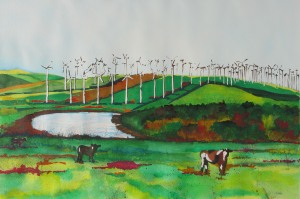 """California Ranching"" watercolor painting by Linda C Smith"